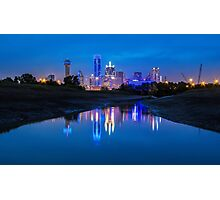 "Dallas ""Police Tribute"" Skyline 2016 Photographic Print"
