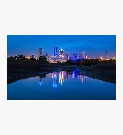 "Dallas ""Police Tribute"" Skyline 2016 Photographic Print"
