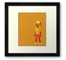 Sun Cap Kid Framed Print