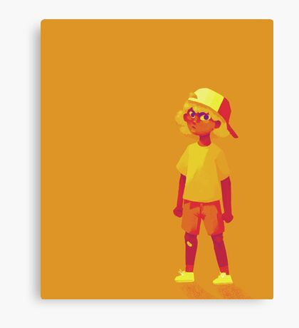 Sun Cap Kid Canvas Print