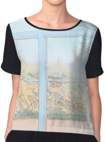 From the Window Chiffon Top