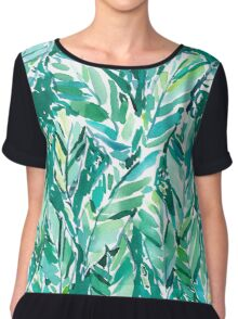 BANANA LEAF JUNGLE Chiffon Top