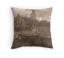Gold Dust Saloon Throw Pillow