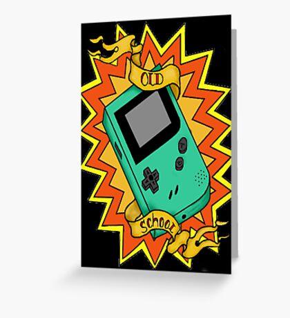 Game Boy Old School Greeting Card