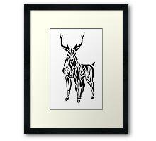 Tribal Stag Framed Print