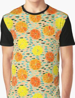 Citrus Lily Pads (Peach) Graphic T-Shirt