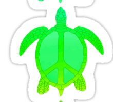 Peace Turtles Sticker
