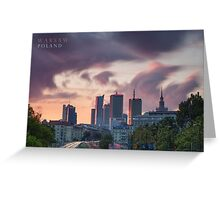 Warsaw, Poland Greeting Card