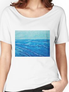 Japanese Waves original painting Women's Relaxed Fit T-Shirt