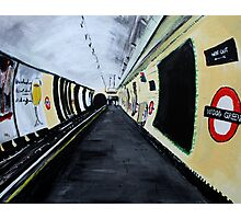 London Underground Wood Green Piccadilly Line Tube Station Acrylic Painting Photographic Print