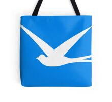 Sweet Swallow in the Blue Sky Tote Bag