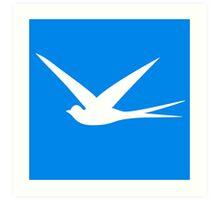 Sweet Swallow in the Blue Sky Art Print