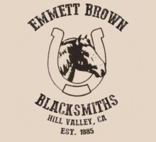 Emmett Brown Blacksmiths T-Shirt by Jimardee