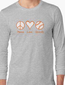 Peace, Love, Giants Long Sleeve T-Shirt