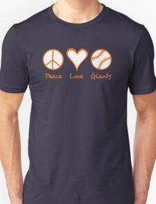Peace, Love, Giants T-Shirt