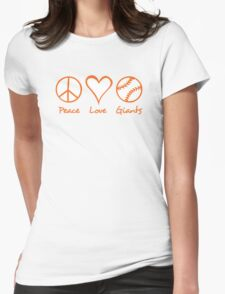 Peace, Love, Giants Womens Fitted T-Shirt