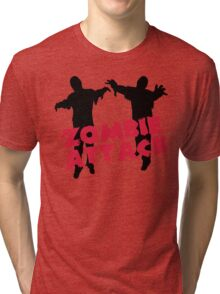 Zombie Attack Funny Quote Tri-blend T-Shirt