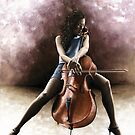 Tranquil Cellist by Richard Young