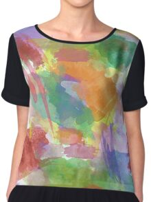 Abstract Rainbows Chiffon Top