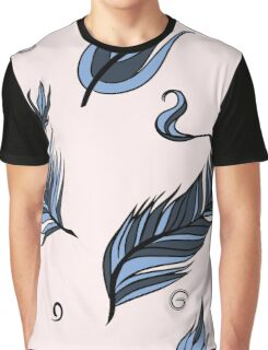 Hand drawn Tribal Feathers Pattern Graphic T-Shirt