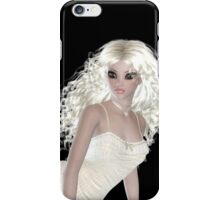 Blond Woman Wearing Beige Pajamas. Steampunk Art iPhone Case/Skin