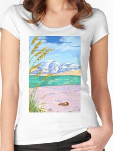Beach Day Women's Fitted Scoop T-Shirt