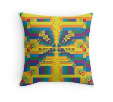 Razzle Dazzle II - by LeahQuinnDesigns- Summer Olympic 2016 Fashion Throw Pillow