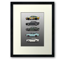 Stack of Mazda Savanna GT RX-3 Coupes Framed Print