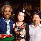 Three Black Thai Women by Andrew  Makowiecki