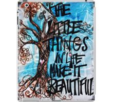 The little things iPad Case/Skin