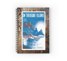 Treasure Island Blue Vintage Piano Sheet Music Spiral Notebook
