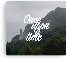 Once upon a time - Neuschwanstein Castle Canvas Print