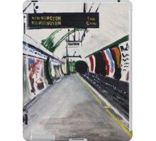 London Underground Goodge Street Northern Line Tube Station Acrylic Painting iPad Case/Skin
