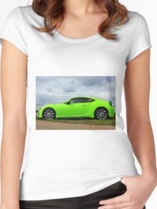 Neon Green Women's Fitted Scoop T-Shirt