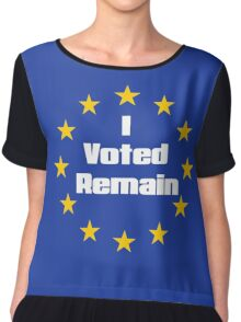 Brexit - I voted remain.  Chiffon Top