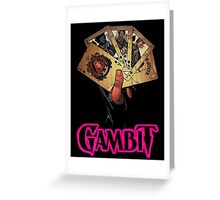 gambit hand Greeting Card