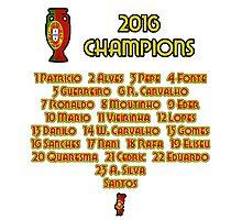 Portugal Euro 2016 Champions Photographic Print