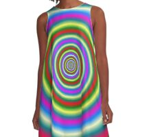 Rings in Red Yellow Blue and Green A-Line Dress