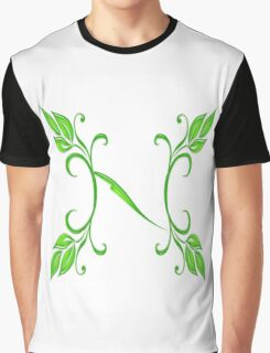 Letter - N Graphic T-Shirt