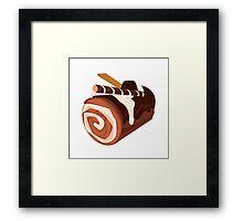 Chocolate Dessert Roll Framed Print