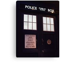 Travel in time through the TARDIS Doors.... Canvas Print