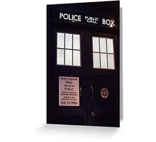 Travel in time through the TARDIS Doors.... Greeting Card