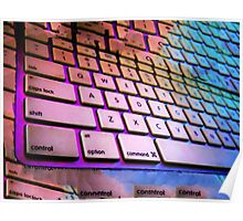 Glowing Keyboard Poster