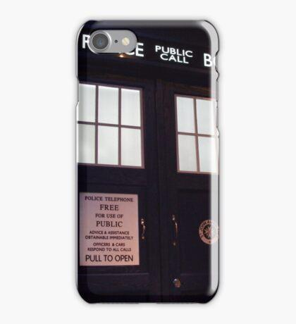 Travel in time through the TARDIS Doors.... iPhone Case/Skin