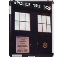 Travel in time through the TARDIS Doors.... iPad Case/Skin