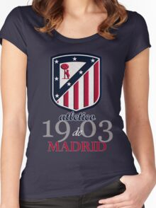 Atletico Madrid club football Women's Fitted Scoop T-Shirt
