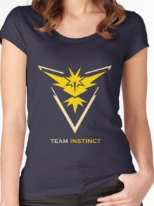 Team Instinct Black Women's Fitted Scoop T-Shirt