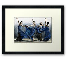 Sequential Dancer Framed Print