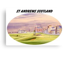 St Andrews Scotland With Banner Canvas Print