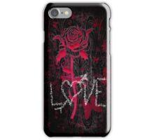Love Rose on Black iPhone Case/Skin